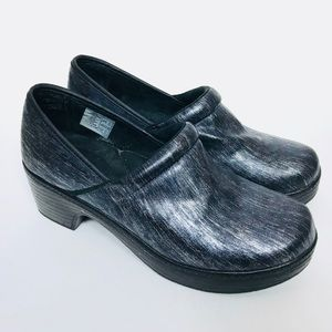 Lands' End Slip On Cushioned Clogs Mules Shoes